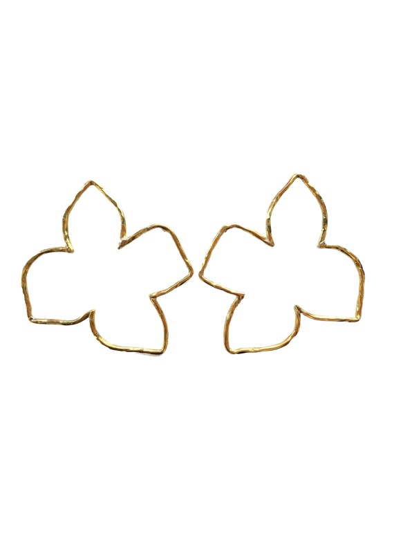 FRANGIPANI BORDER EARRINGS
