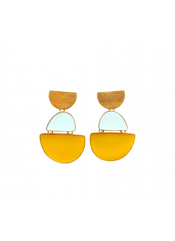 MY LITTLE BOAT YELLOW EARRINGS