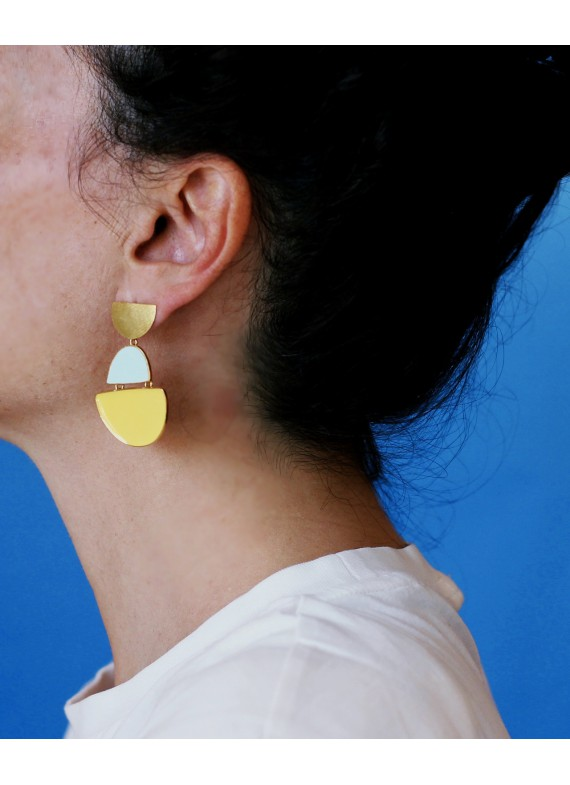 PENDIENTES MY LITTLE BOAT YELLOW