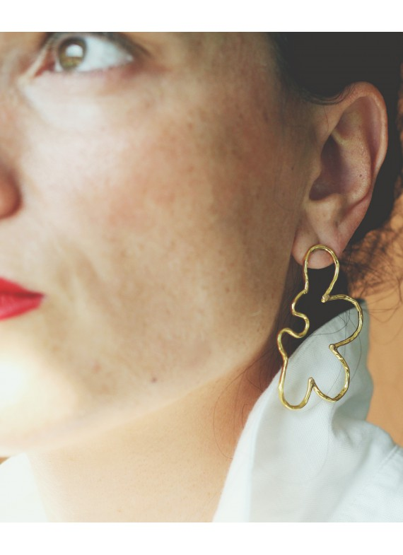 FLATWORM BORDER EARRINGS