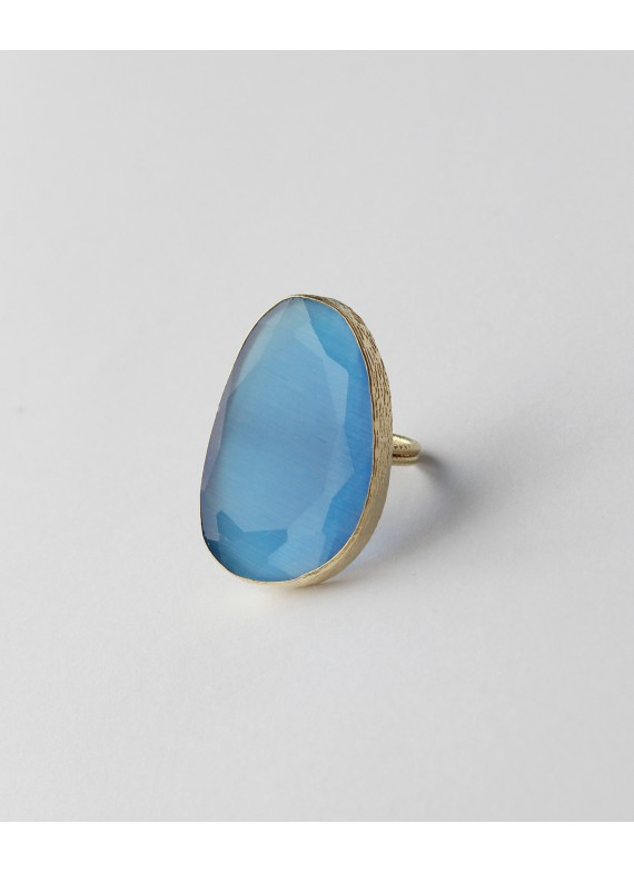 BLUE CAT EYE RING