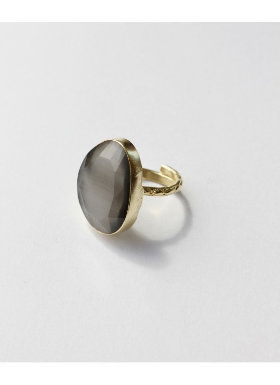CAT EYE GREY RING