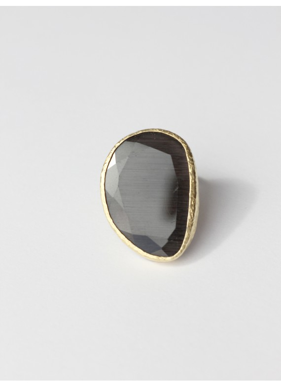 BLACK CAT EYE RING
