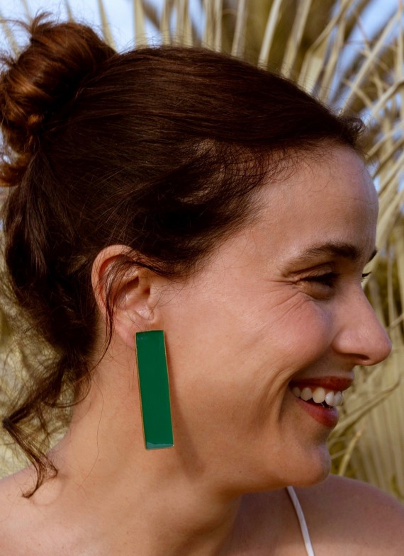 POSIDONIA GREEN EARRINGS