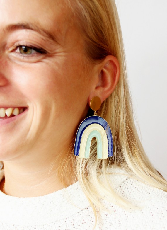 BLUE ZULU EARRINGS