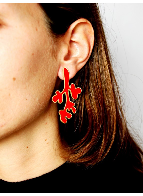 BAOBAB RED EARRINGS