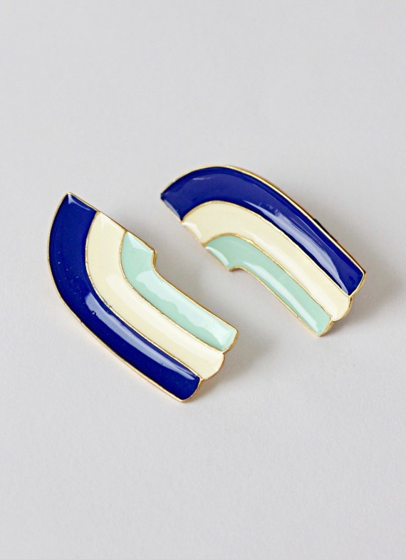 VICTORIA FALLS EARRINGS BLUE