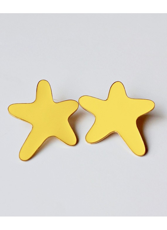 SEA STAR YELLOW EARRINGS