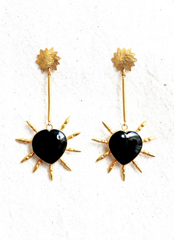 BURNING HEART EARRINGS