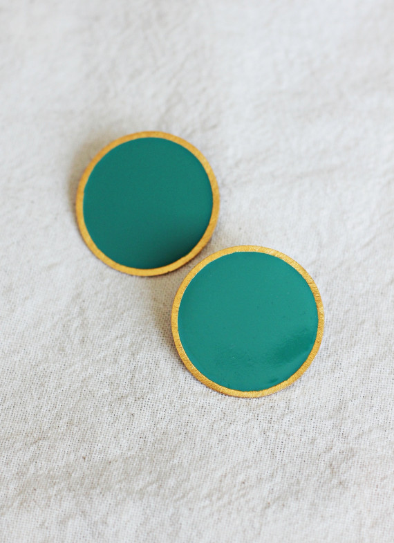 CORON GREEN EARRINGS
