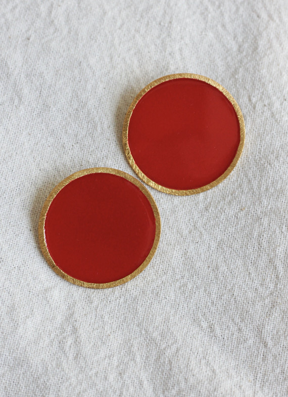 CORON EARRINGS RED